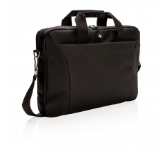 "Swiss Peak slim 15.4"" laptop tas bedrukken"